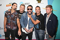 LOS ANGELES, CA - JUNE 2: Kevin Richardson, Nick Carter, AJ McLean, Howie Dorough, and Brian Littrell of music group Backstreet Boys, at iHeartRadio Wango Tango by AT&amp;T at Banc of California Stadium in Los Angeles, California on June 2, 2018. <br /> CAP/MPIFM<br /> &copy;MPIFM/Capital Pictures