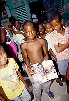 Haiti - 1996 File Photo (exact date unknown)-<br /> Poor children in Haiti slums.<br /> <br /> photo by  Images Distribution