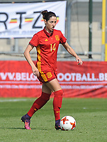 20170408 - EUPEN ,  BELGIUM : Spanish Vicky Losada  pictured during the female soccer game between the Belgian Red Flames and Spain , a friendly game before the European Championship in The Netherlands 2017  , Saturday 8 th April 2017 at Stadion Kehrweg  in Eupen , Belgium. PHOTO SPORTPIX.BE | DIRK VUYLSTEKE