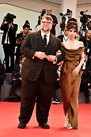 Mexican director Guillermo del Toro, left, poses with British actress Sally Hawkins on the red carpet for the screening of his movie 'The Shape Of Water' at the 74th Venice Film Festival, Venice Lido, August 31, 2017. <br /> UPDATE IMAGES PRESS/Marilla Sicilia<br /> <br /> *** ONLY FRANCE AND GERMANY SALES ***