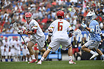 30 MAY 2016: Matt Rambo (1) of the University of Maryland against  the University of North Carolina during the Division I Men's Lacrosse Championship held at Lincoln Financial Field in Philadelphia, PA. Larry French/NCAA Photos