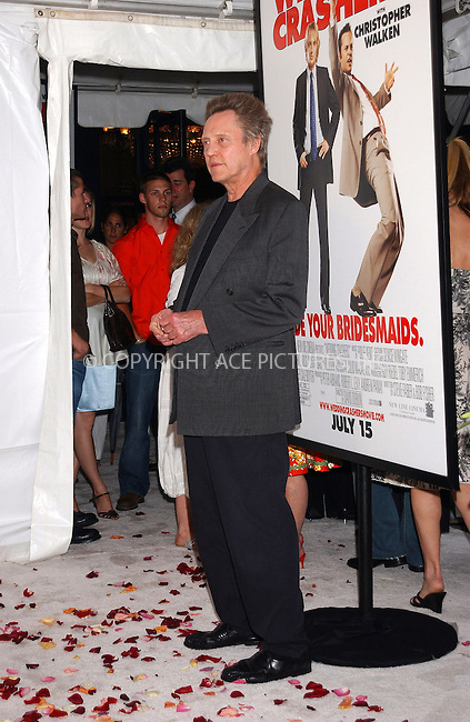 WWW.ACEPIXS.COM . . . . . ....NEW YORK, JULY 13, 2005....Christopher Walken at the premiere of 'Wedding Crashers' held at the Ziegfeld Theatre.....Please byline: KRISTIN CALLAHAN - ACE PICTURES.. . . . . . ..Ace Pictures, Inc:  ..Craig Ashby (212) 243-8787..e-mail: picturedesk@acepixs.com..web: http://www.acepixs.com