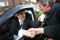09/03/2011.Leader of Fine Gael Enda Kenny TD greeted by well wishers before traveeling to  Aras An Uachtarain after  becoming Taoiseach at Leinster House,  Dublin..Photo: Gareth Chaney Collins
