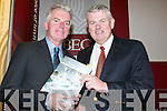 Shannon Development: At the IBEC National Development Plan conference in the Brandon Conference Centre Tralee on Thursday was Kevin Thompstone, Shannon Development with Paddy Power, Shannon LNG..