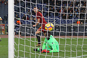 1st December 2017, Stadio Olimpico, Rome, Italy; Serie A football. AS Roma versus Spal;  Goal scored by EDIN DZEKO Roma