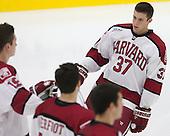 Desmond Bergin (Harvard - 37) - The Harvard University Crimson tied the visiting Dartmouth College Big Green 3-3 in both team's first game of the season on Saturday, November 1, 2014, at Bright-Landry Hockey Center in Cambridge, Massachusetts.
