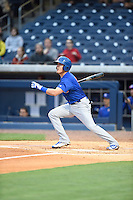 ***Temporary Unedited Reference File***Iowa Cubs third baseman Logan Watkins (8) during a game against the Nashville Sounds on May 3, 2016 at First Tennessee Park in Nashville, Tennessee.  Iowa defeated Nashville 2-1.  (Mike Janes/Four Seam Images)