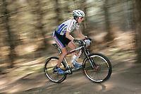08 APR 2007 - THETFORD, UK - Elizabeth Scalia - 100km race - British Mountain Bike Marathon series Round 1. (PHOTO (C) NIGEL FARROW)