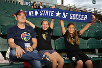 Cary, North Carolina  - Wednesday May 24, 2017: Courage fans prior to a regular season National Women's Soccer League (NWSL) match between the North Carolina Courage and the Sky Blue FC at Sahlen's Stadium at WakeMed Soccer Park. The Courage won the game 2-0.
