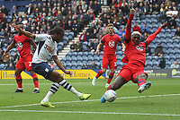 Preston North End's Daniel Johnson gets a shot on goal<br /> <br /> Photographer Mick Walker/CameraSport<br /> <br /> The EFL Sky Bet Championship - Preston North End v Wigan Athletic - Saturday 10th August 2019 - Deepdale Stadium - Preston<br /> <br /> World Copyright © 2019 CameraSport. All rights reserved. 43 Linden Ave. Countesthorpe. Leicester. England. LE8 5PG - Tel: +44 (0) 116 277 4147 - admin@camerasport.com - www.camerasport.com
