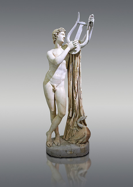 2nd century AD Roman sculpture of Pothos, a copy of a 4th century BC Greek original attributed to Skopas of Paros, inv no 6253,  The Farnese collection, Naples Museum of Archaeology, Italy