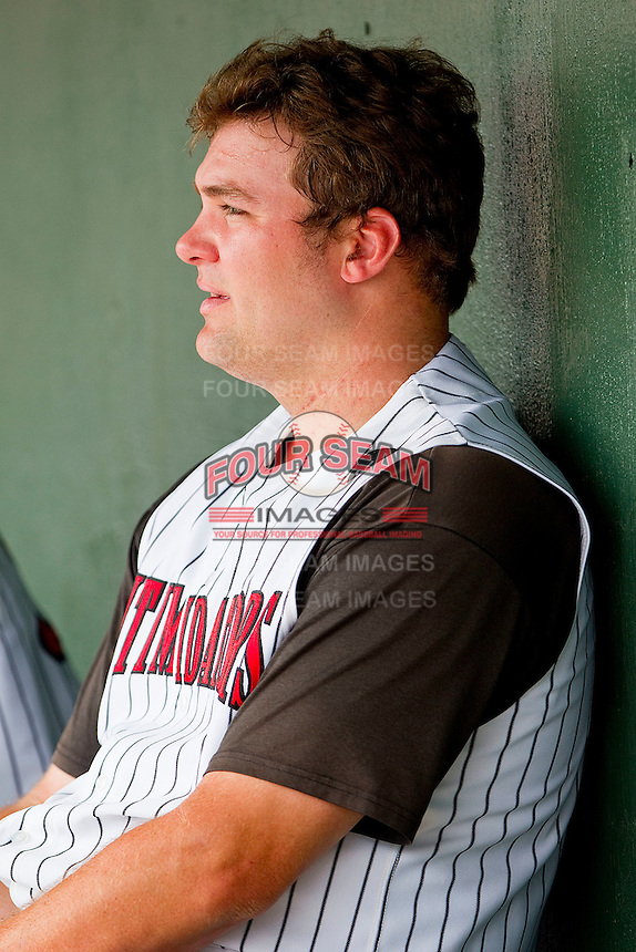 Dan Black #40 of the Kannapolis Intimidators at Fieldcrest Cannon Stadium on April 20, 2011 in Kannapolis, North Carolina.   Photo by Brian Westerholt / Four Seam Images