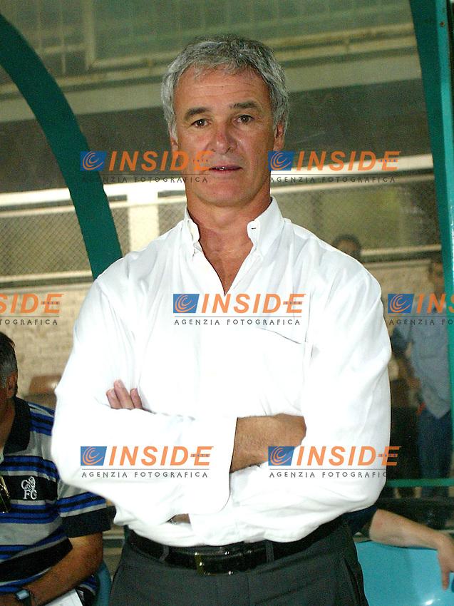 Roma 18 Luglio 2003 <br /> Presentazione SS LAzio <br /> Lazio Chelsea 2-0<br /> Claudio Ranieri, allenatore del Chelsea