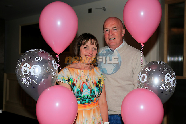 Pauline Kierans celebrating her 60th with husband Damien int eh dHotel.<br /> Picture:  Fran Caffrey www.newsfile.ie