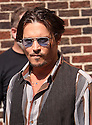 """NEW YORK - JUNE 25: Johnny Depp   visits """"Late Show With David Letterman"""" at the Ed Sullivan Theater on June 25, 2009 in New York City.  (Photo by Soul Brother/Getty Images)"""