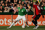 Dublin Ireland. Irelands No 11 Damien Duff vies with Chile no 6 Jorge Acuna Concha during the friendly soccer international at Lansdowne road Dublin Ireland 24/5/06.Photo AFP/NEWSFILE/FRAN CAFFREY..(Photo credit should read AFP PHOTO/FRAN CAFFREY/NEWSFILE)...This Picture has been sent you under the condtions enclosed by:.Newsfile Ltd..the Studio,.Millmount Abbey,.Drogheda,.Co Meath..Ireland..Tel: +353(0)41-9871240.Fax: +353(0)41-9871260.GSM: +353(0)86-2500958.email: pictures@newsfile.ie.www.newsfile.ie.FTP: 193.120.102.198..This picture is from Fran Caffrey@newsfile.ie