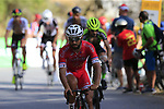 Nacer Bouhanni (FRA) Cofidis climbs Sierra de la Alfaguara during Stage 4 of the La Vuelta 2018, running 162km from Velez-Malaga to Alfacar, Sierra de la Alfaguara, Andalucia, Spain. 28th August 2018.<br /> Picture: Eoin Clarke   Cyclefile<br /> <br /> <br /> All photos usage must carry mandatory copyright credit (&copy; Cyclefile   Eoin Clarke)