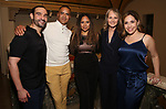 """Javier Munoz, Christopher Jackson, Tracie Toms, Helen Hunt and Andrea Burns attends the Opening Night performance afterparty for ENCORES! Off-Center production of """"Working - A Musical""""  at New York City Center on June 26, 2019 in New York City."""