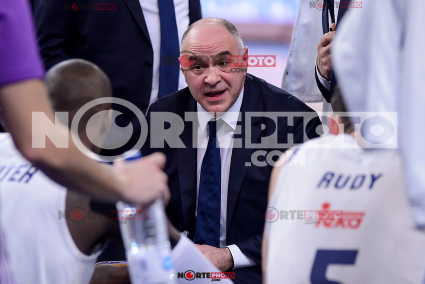 Real Madrid's coach Pablo Laso during Quarter Finals match of 2017 King's Cup at Fernando Buesa Arena in Vitoria, Spain. February 16, 2017. (ALTERPHOTOS/BorjaB.Hojas) /Nortephoto.com