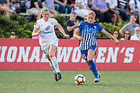 Boston, MA - Friday August 04, 2017: Maegan Kelly and Rosie White during a regular season National Women's Soccer League (NWSL) match between the Boston Breakers and FC Kansas City at Jordan Field.