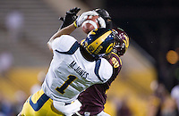 Marvin Jones of California catches the ball during a game against Arizona State at Sun Devil Stadium in Tempe, California on November 25th, 2011  - California defeated Arizona State  47 - 38