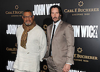 www.acepixs.com<br /> <br /> January 30 2017, LA<br /> <br /> Laurence Fishburne (L) and Keanu Reeves arriving at the premiere of 'John Wick: Chapter Two' on January 30, 2017 in Hollywood, California.<br /> <br /> By Line: Peter West/ACE Pictures<br /> <br /> <br /> ACE Pictures Inc<br /> Tel: 6467670430<br /> Email: info@acepixs.com<br /> www.acepixs.com