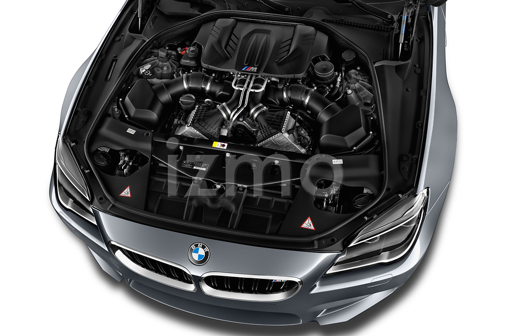 Car Stock 2017 BMW M6 - 2 Door Coupe Engine  high angle detail view