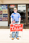 September 20, 2014. Greensboro, North Carolina.<br />  Trey Moore, age 14, made more than 7000 phone calls for Congressional candidate Mark Walker.<br />  Thom Tillis and Mark Walker hosted a rally at the Guilford County Republican Party headquarters for their supporters in the upcoming November election. Tillis, the current Speaker of the House for the NC House of Representatives, is running to take Democrat Kay Hagan's US Senate seat, while Walker, a local pastor, is running for the NC 6th District' s US Congressional seat.
