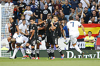 02.09.2012 SPAIN -  La Liga 12/13 Matchday 3th  match played between Real Madrid CF vs  Granada C.F. (3-0) at Santiago Bernabeu stadium. The picture show Cristiano Ronaldo (Portuguese forward of Real Madrid)
