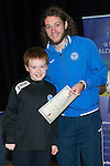 St Johnstone FC Youth Academy Presentation Night at Perth Concert Hall..21.04.14<br /> Stevie May presents to Ben Ramage<br /> Picture by Graeme Hart.<br /> Copyright Perthshire Picture Agency<br /> Tel: 01738 623350  Mobile: 07990 594431