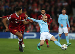 David Silva of Manchester City during the Champions League Quarter Final 1st Leg, match at Anfield Stadium, Liverpool. Picture date: 4th April 2018. Picture credit should read: Simon Bellis/Sportimage