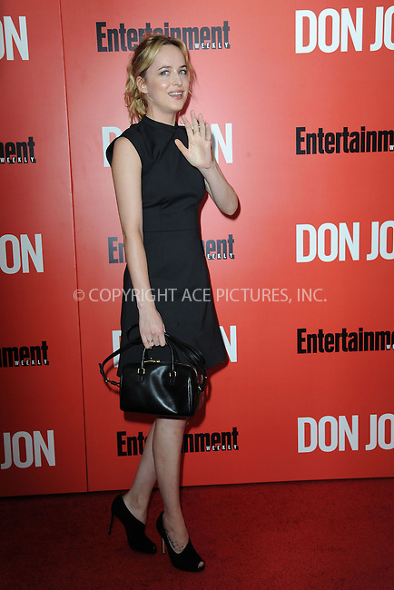 WWW.ACEPIXS.COM<br /> September 12, 2013...New York City<br /> <br /> Dakota Johnson attending 'Don Jon' New York Premiere at SVA Theater on September 12, 2013 in New York City.<br /> <br /> Please byline: Kristin Callahan/Ace Pictures<br /> <br /> Ace Pictures, Inc: ..tel: (212) 243 8787 or (646) 769 0430..e-mail: info@acepixs.com..web: http://www.acepixs.com