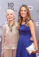 """Los Angeles CA Apr 11: Barbara Rush, Claudia Cowan, arrive to 2019 TCM Classic Film Festival Opening Night Gala And 30th Anniversary Screening Of """"When Harry Met Sally"""", TCL Chinese Theatre, Los Angeles, USA on April 11, 2019 <br /> CAP/MPI/FS<br /> ©FS/MPI/Capital Pictures"""