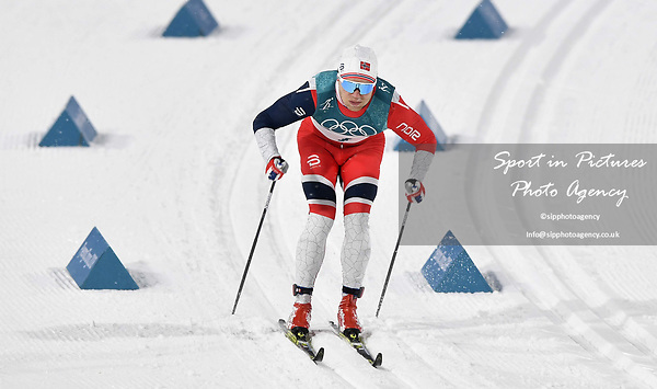Eirik Brandsdal (NOR). Mens sprint classic qualification. Cross country skiing. Alpensia Croos-Country skiing centre. Pyeongchang2018 winter Olympics. Alpensia. Republic of Korea. 13/02/2018. ~ MANDATORY CREDIT Garry Bowden/SIPPA - NO UNAUTHORISED USE - +44 7837 394578