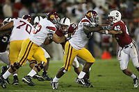 4 November 2006: Matt Kopa and Will Powers during Stanford's 42-0 loss to USC at Stanford Stadium in Stanford, CA.
