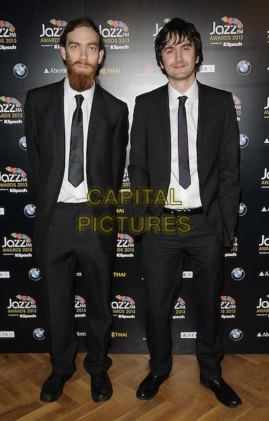 Beats & Pieces.attended the Jazz FM Awards 2013, One Marylebone, Marylebone Rd., London, England, 31st January 2013..full length black suit tie white shirt .CAP/CAN.©Can Nguyen/Capital Pictures.