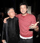 Alen Menken & Raul Esparza.attending the Broadway Opening Night Gypsy Robe Ceremony honoring  Dennis Stowe in 'LEAP OF FAITH' on 4/26/2012 at the St. James Theatre in New York City.