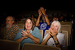 "Anti-Christo audience members at a BLM hearing regarding the artist's proposed installation...Conceptual artist Christo and his team attend BLM hearings regarding the artist's proposal to hang six fabric over six miles of the Arkansas River through the Bignhorn Canyon east of Salida, Colo.  The controversial proposal was put before a series of hearings to solicit comments from the public regarding the installation.  .CREDIT: ""Matt Slaby/LUCEO for The Wall Street Journal"".CHRISTO"