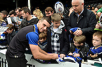 George Ford of Bath Rugby mingles and signs autographs with supporters at the end of the session. Bath Rugby Captain's Run on October 30, 2015 at the Recreation Ground in Bath, England. Photo by: Patrick Khachfe / Onside Images