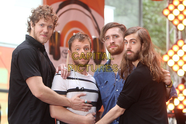 NEW YORK, NY - JUNE 26: Dan Reynolds,Ben McKee, Daniel Platzman, Daniel Wayne Sermon Imagine Dragons perform at NBC's Today Show Toyota Concert Series at Rockefeller Center Plaza in New York City on June 26, 2015. <br /> CAP/MPI/RW<br /> &copy;RW/MPI/Capital Pictures