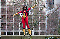 Spider Woman Cosplay, Female Super Hero, Emerald City Comicon 2017, Seattle, WA, USA.