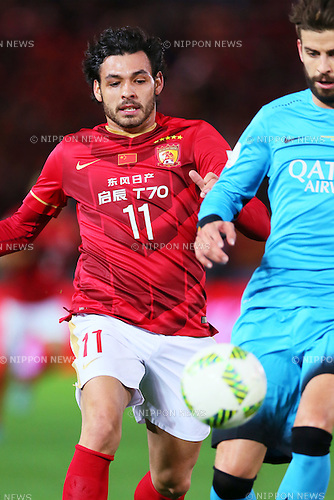 Ricardo Goulart (Evergrande), <br /> DECEMBER 17, 2015 - Football / Soccer : <br /> FIFA Club World Cup Japan 2015 <br /> semi-final match between Barcelona 3-0 Guangzhou Evergrande <br /> at Yokohama International Stadium in Kanagawa, Japan.<br /> (Photo by Yohei Osada/AFLO SPORT)