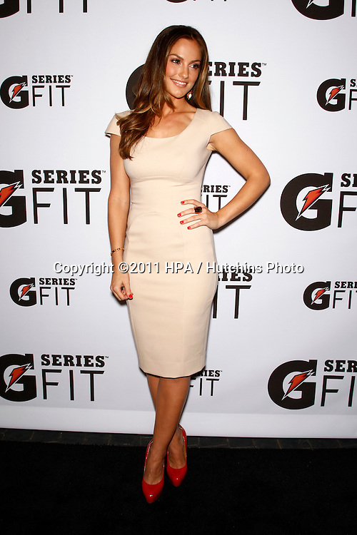 "LOS ANGELES - APR 12:  Minka Kelly arriving at the ""Gatorade G Series Fit Launch Event"" at SLS Hotel on April 12, 2011 in Los Angeles, CA"