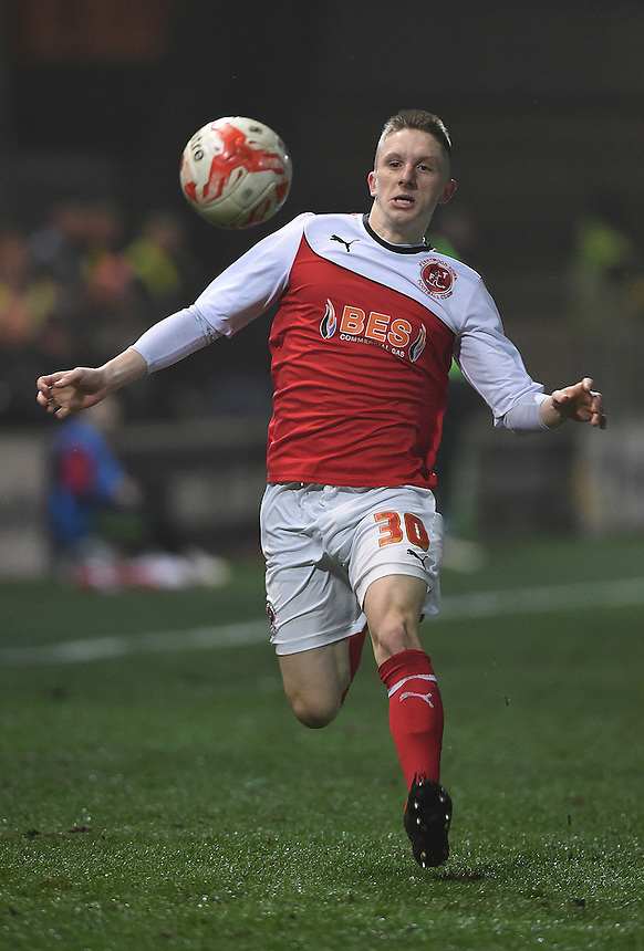 Fleetwood Town's Ashley Hunter on the ball<br /> <br /> Photographer Dave Howarth/CameraSport<br /> <br /> Football - The Football League Sky Bet League One - Fleetwood Town v Coventry City - Tuesday 17th March 2015 - Highfield Stadium - Fleetwood<br /> <br /> &copy; CameraSport - 43 Linden Ave. Countesthorpe. Leicester. England. LE8 5PG - Tel: +44 (0) 116 277 4147 - admin@camerasport.com - www.camerasport.com