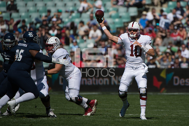Sydney, Australia - August 27, 2017: The Stanford Cardinal defeats the Rice Owls 62-7 in the 2017 Sydney Cup at Allianz Stadium in Sydney, Australia.