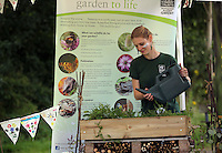 Pictured: Candice Laroche at at the Gwent Wildlife Trust Saturday 13 August 2016<br />Re: Grow Wild event at  Furnace to Flowers site in Ebbw Vale, Wales, UK