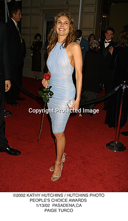 ©2002 KATHY HUTCHINS / HUTCHINS PHOTO.PEOPLE'S CHOICE AWARDS .1/13/02  PASADENA,CA.PAIGE TURCO
