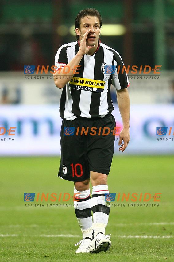 Alessandro Del Piero (Juventus) <br /> Milano 22/3/2008 Stadio &quot;Giuseppe Meazza&quot;<br /> Campionato Italiano Serie A 2007/2008<br /> Inter Juventus 1-2<br /> Photo PaperDb/Insidefoto
