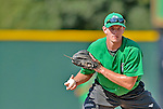 18 August 2012: Vermont Lake Monsters infielder Daniel Robertson warms up prior to a game against the Brooklyn Cyclones at Centennial Field in Burlington, Vermont. The Lake Monsters defeated the Cyclones 4-1 in NY Penn League action. Mandatory Credit: Ed Wolfstein Photo