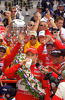 87th Indianapolis 500, Indianapolis Motor Speedway, Speedway, Indiana, USA  25 May,2003.Winner Gil de Ferran drinks the milk..World Copyright©F.Peirce Williams 2003 .ref: Digital Image Only..F. Peirce Williams .photography.P.O.Box 455 Eaton, OH 45320.p: 317.358.7326  e: fpwp@mac.com..